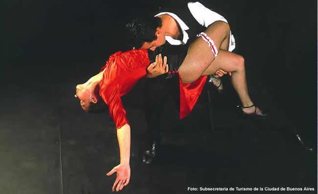 Vida noturna em Buenos Aires, show de tango