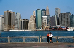 Manhattan Skyline vista do Brooklyn