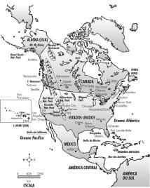 Mapa da América do Norte