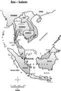 Mapa da Ásia, Sudeste