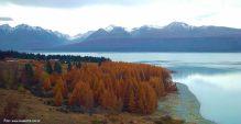 Lago na Ilha do Sul, Nova Zelândia