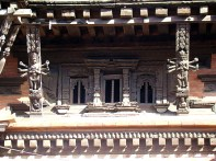 Janela em Katmandu, Nepal