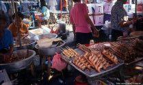 Bangkok, quiosque de alimentação na rua