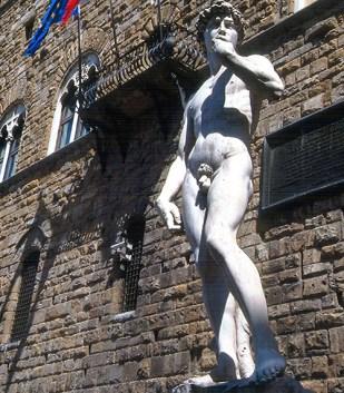 David, de Michelangelo, em Florença