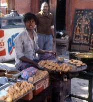 Fast-food populaire em Delhi