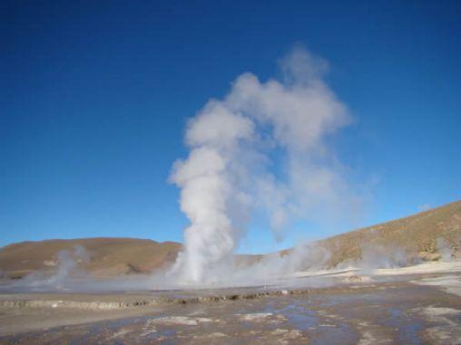 Gêiser no altiplano chileno