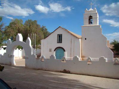 Igrejinha colonial em san Pedro de Atacama