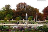 Jardim de Luxemburgo no outono, em Paris