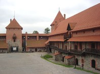 Pátio interno, Castelo de Trakai, Lituânia
