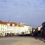 Praça em Vilnius, Lituânia