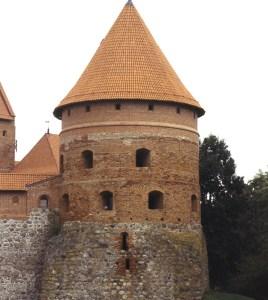 Torre no castelo de Trakai