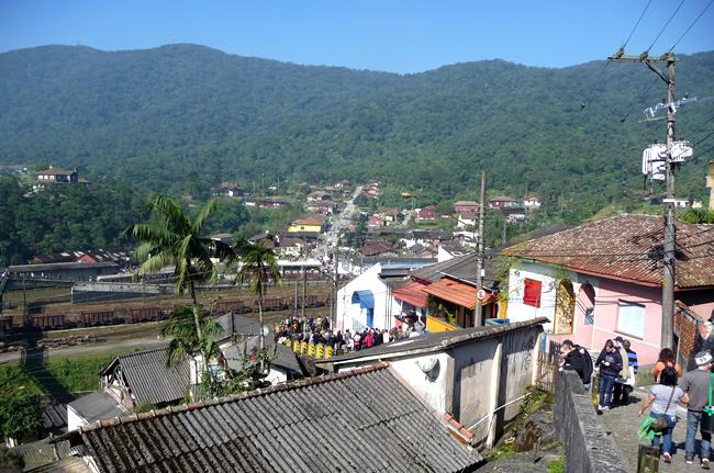 A chegada a Paranapiacaba