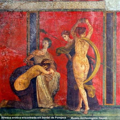 Pompeia, afresco erótico