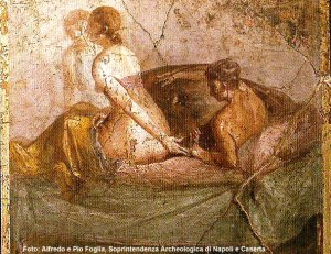 Pompéia, mural erótico