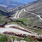 Estrada entre a Quebrada de Huhauaca e a puna argentina