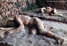 Pompeia, molde de corpo carbonizado