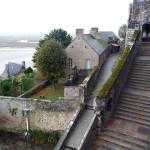 Normanda, Mont St-Michel, escadarias