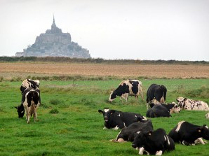 Normandia, Mont-Saint Michel visto de longe
