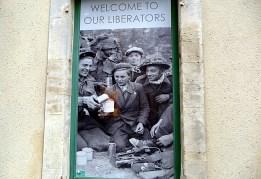 Foto no Museu da Batalha da Normanadia