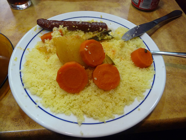 Cuscus marroquino de lanchonete