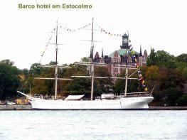 Estocolmo, Suéica, barco-hostel