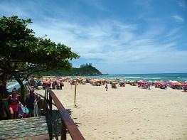 Guarujá SP, praia do Tombo