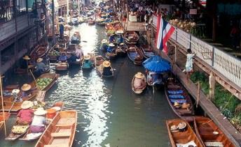 Mercado Flutuantede Bangkok