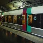 Vagão de metrô em Paris