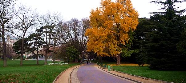 Parques de Paris no outono