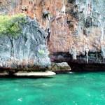 Rochedos em Phi Phi Island, Tailândia