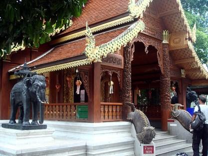 Templo na cidade de Chiang Mai, Tailândia