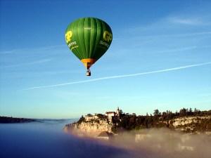 Voo de balão sobre Rocmadour