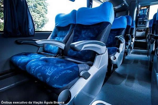 Ônibus executivo empresa Aguia Branca