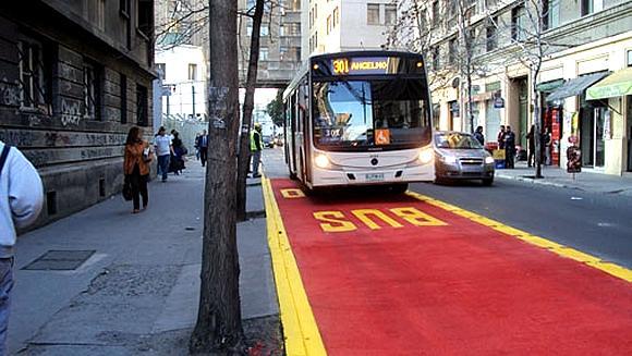 Ônibus urbano em Santiago do Chile