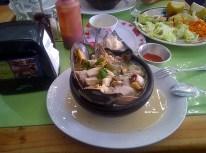 "Gastronomia chilena, ""chupe"", prato à base de frutos do mar - foto Edu Rodrigues"