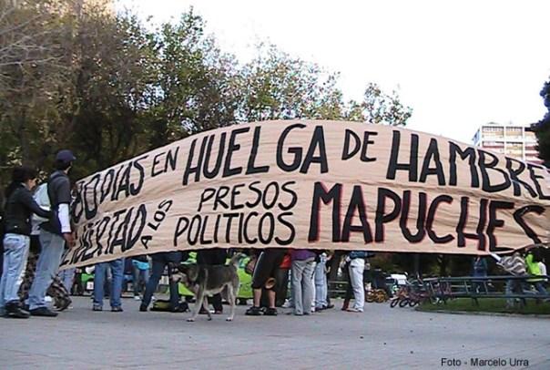 Manifestação dos índios Mapuches
