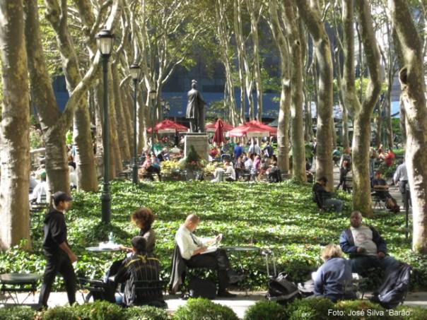 Os novaiorquinos, Bryant Park, Manhattan