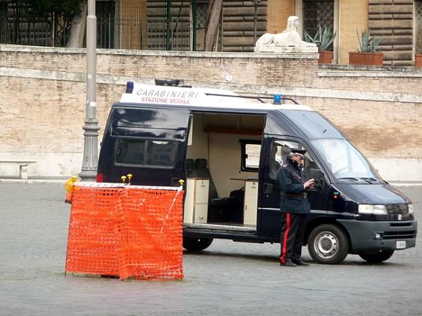 Policia na Itália, os carabinieri