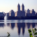 O West Upper Side visto do Central Park, New York