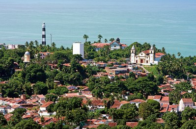 Vista aérea do centro histórico do Olinda - Foto Prefeitura de Olinda CCBY