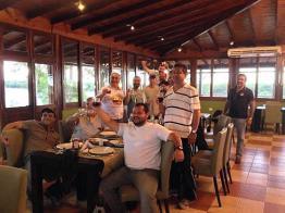 Pesca no rio Paraná, o encontro no restaurante do hotel
