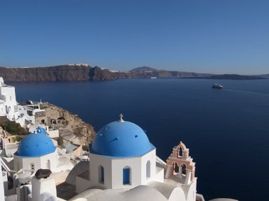 Grecia, Santorini, igreja ortodoxa -foto-Maggie Meng-ccby