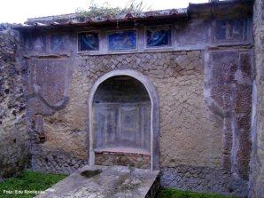 Construção romana em Herculano, Itália