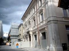L'Aquilla, edifício restaurado no centro histórico