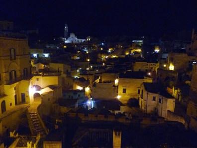 Matera, sassi à noite