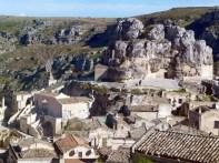 O vale dos sassi em Matera, Itália