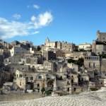 Conjunto de sassi em Matera, Itália