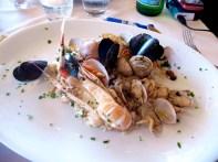 Risotto al frute de mare, uma especialidade de Positano