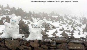 Peru, a estrada a quase 5.00m, entre Arequipa e o Valle del Colca