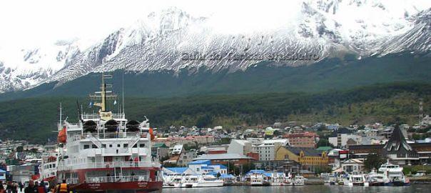 Porto de Ushuaia, na Argentina